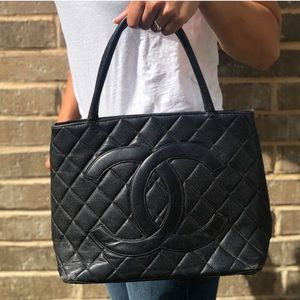 Chanel medallion tote bag